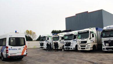 Șase camioane înmatriculate în România sechestrate în Belgia