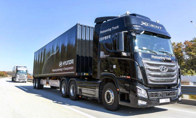 Hyundai a finalizat cu succes primul test cu camioane conectate în pluton