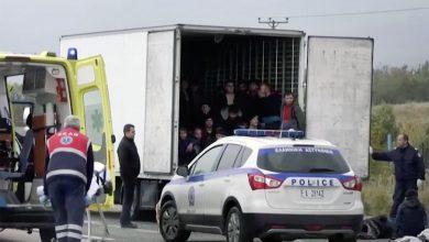 41 de imigranți ilegali descoperiți într-un camion lângă Salonic