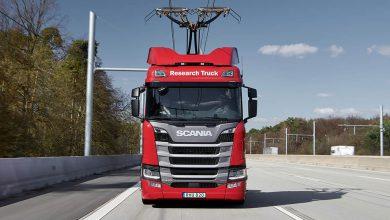 Bode testează Scania R 450 Hybrid cu pantograf pe segmentul electrificat de pe A 1
