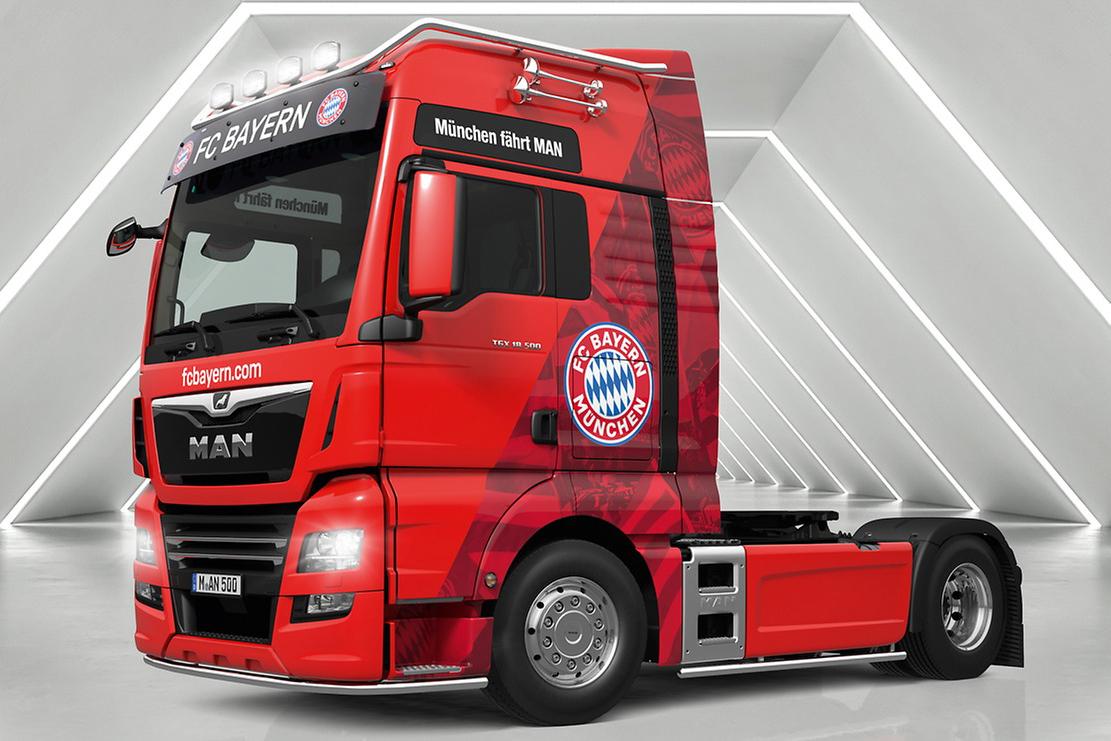 Ediții speciale MAN TGX în culorile a cinci echipe de fotbal din Bundesliga