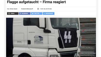 Un camion cu însemne naziste fotografiat în trafic în Germania