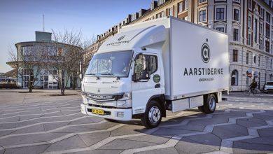 Companiile daneze Citylogistik și Aarstiderne fac livrări cu FUSO eCanter