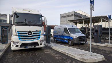 Daimler deschide o nouă stație de încărcare pentru vehiculele comerciale electrice