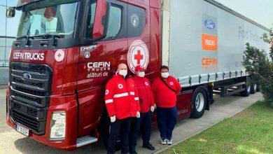 Cefin Trucks și noul Ford F-Max este alături de Crucea Roșie România