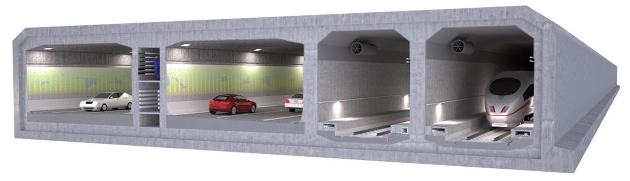 Danemarca începe construcția celui mai lung tunel submarin rutier și feroviar din lume