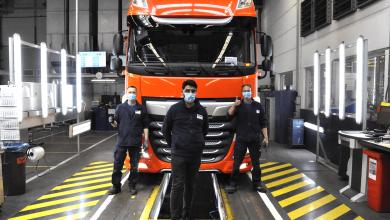 DAF a produs primul camion după reluarea producției