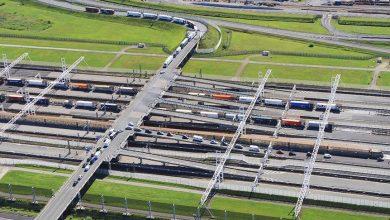 Numărul camioanelor care au traversat Eurotunnel a scăzut în luna martie
