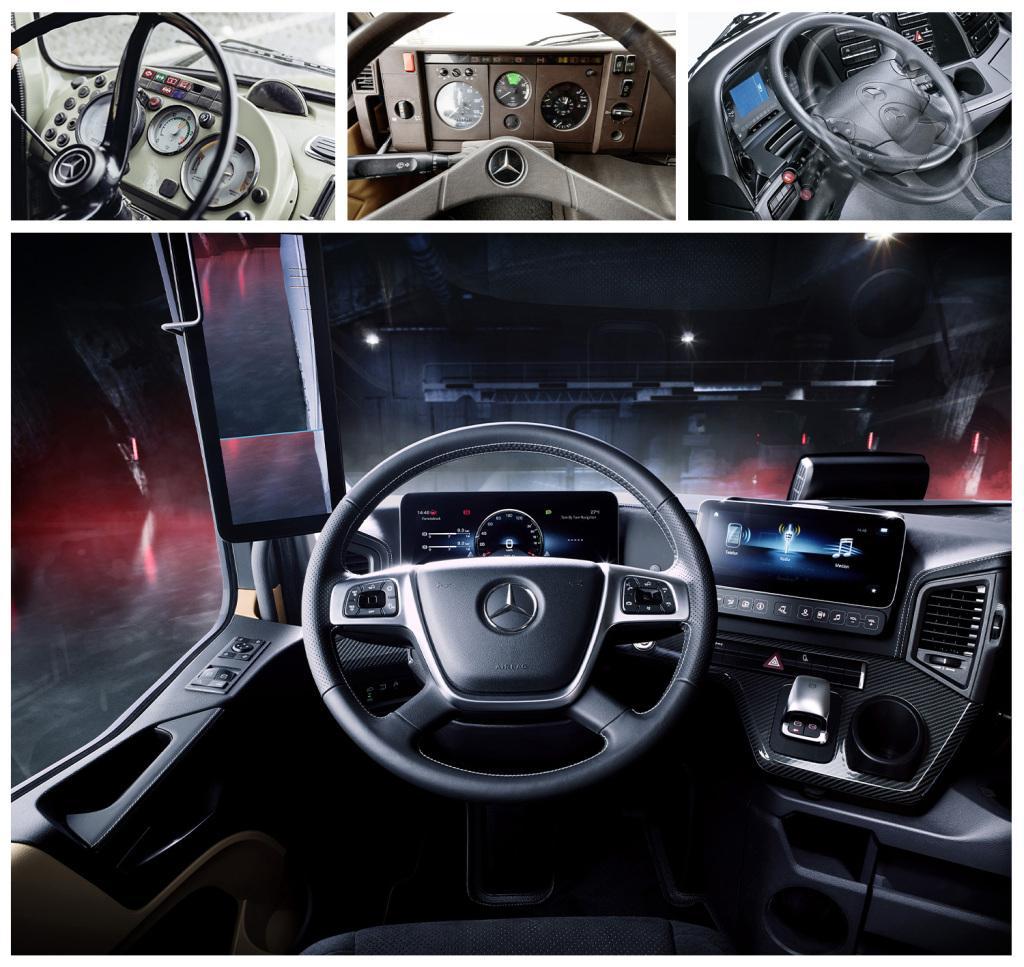 De la un simplu post de conducere la un adevărat cockpit high-tech. Evoluția cabinelor în gama Mercedes în ultimii 60 de ani