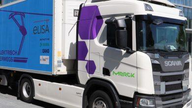 Farmaceutice transportate cu Scania R 450 Hybrid cu pantograf
