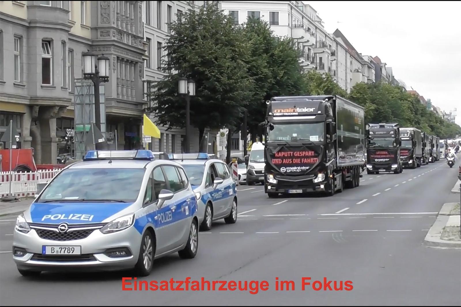 Transportatorii germani vor organiza un nou protest la Berlin