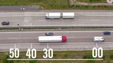Acțiuni de control privind păstrarea distanței între vehicule, în special la camioane