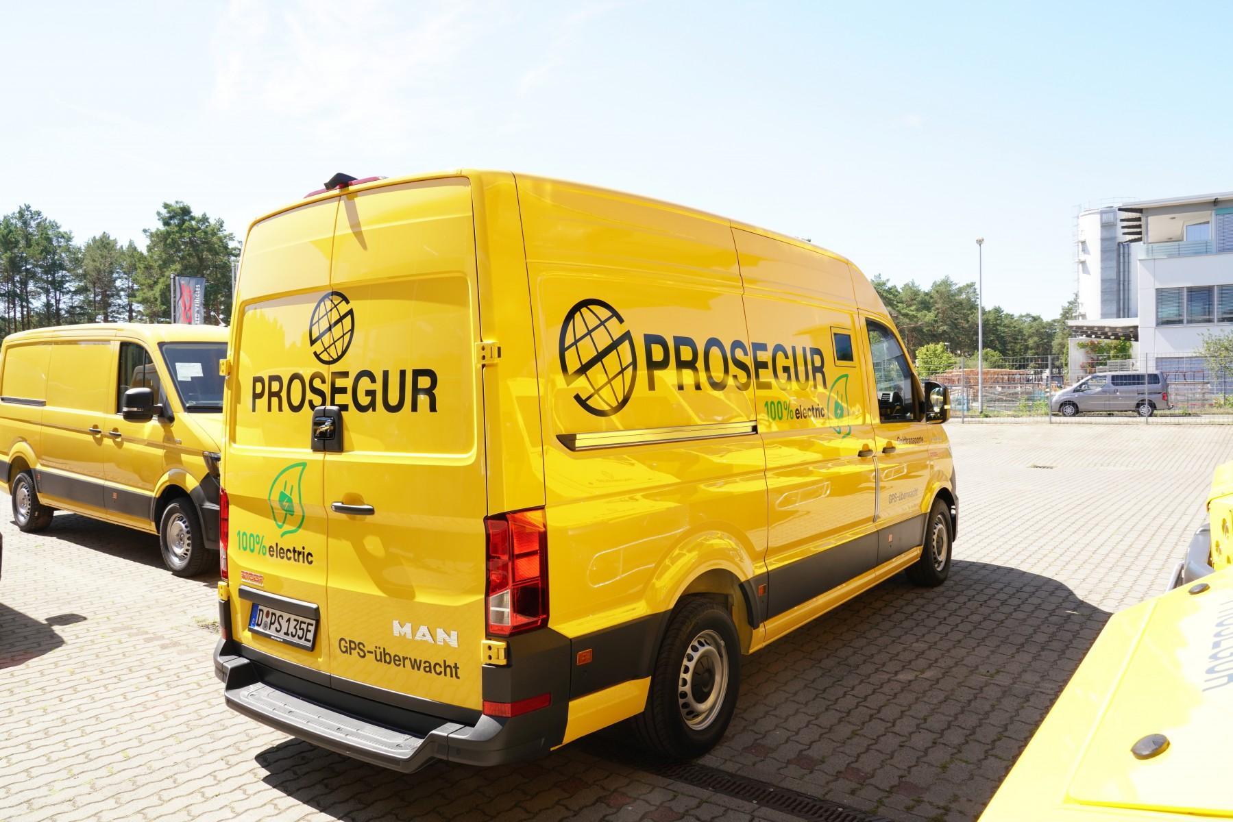 Prosegur folosește un MAN eTGE blindat pentru transportul banilor