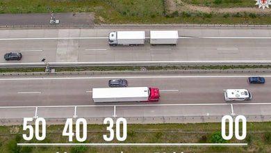 Fiecare al cincilea șofer de camion nu respectă distanța minimă între vehicule