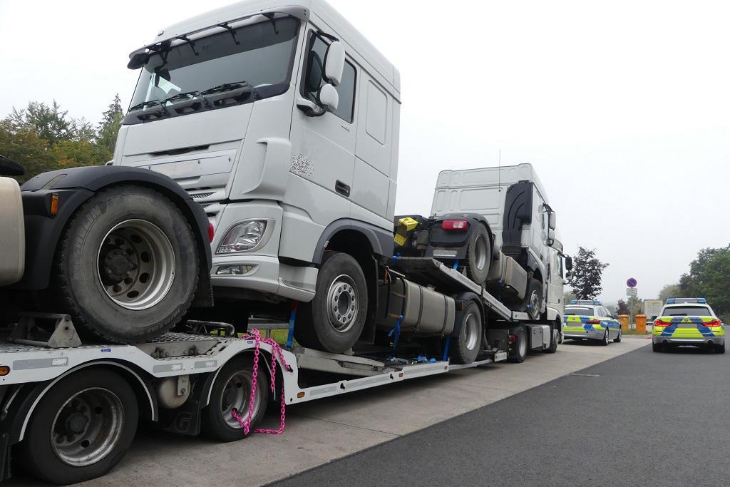 Germania: Transportor auto oprit din circulație, deoarece punea în pericol siguranța traficului