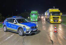 Control rutier nocturn al traficului rutier pe autostrada A3, lângă Passau