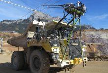 Drum electrificat pentru camioane de mină cu pantograf în Austria