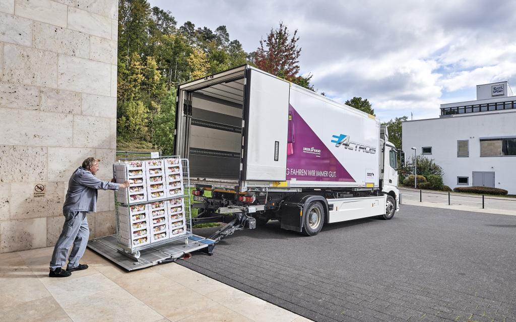 Ritter Sport folosește un Mercedes-Benz eActros pentru aprovizionarea producției