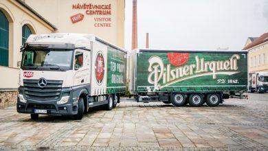 Berea Pilsner Urquell transportată cu noi ansambluri rutiere de volum