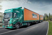Camioane Scania ultra-lungi cu LNG utilizate în logistica Volkswagen