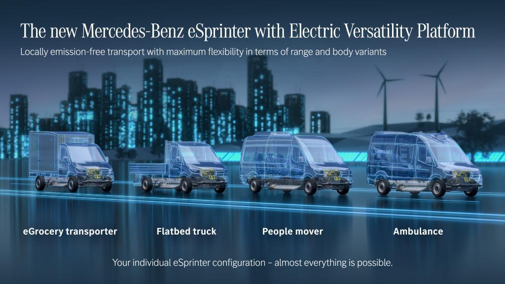 """Noua generație eSprinter va fi bazat pe noua """"Platforma Electrică Versatilă"""""""