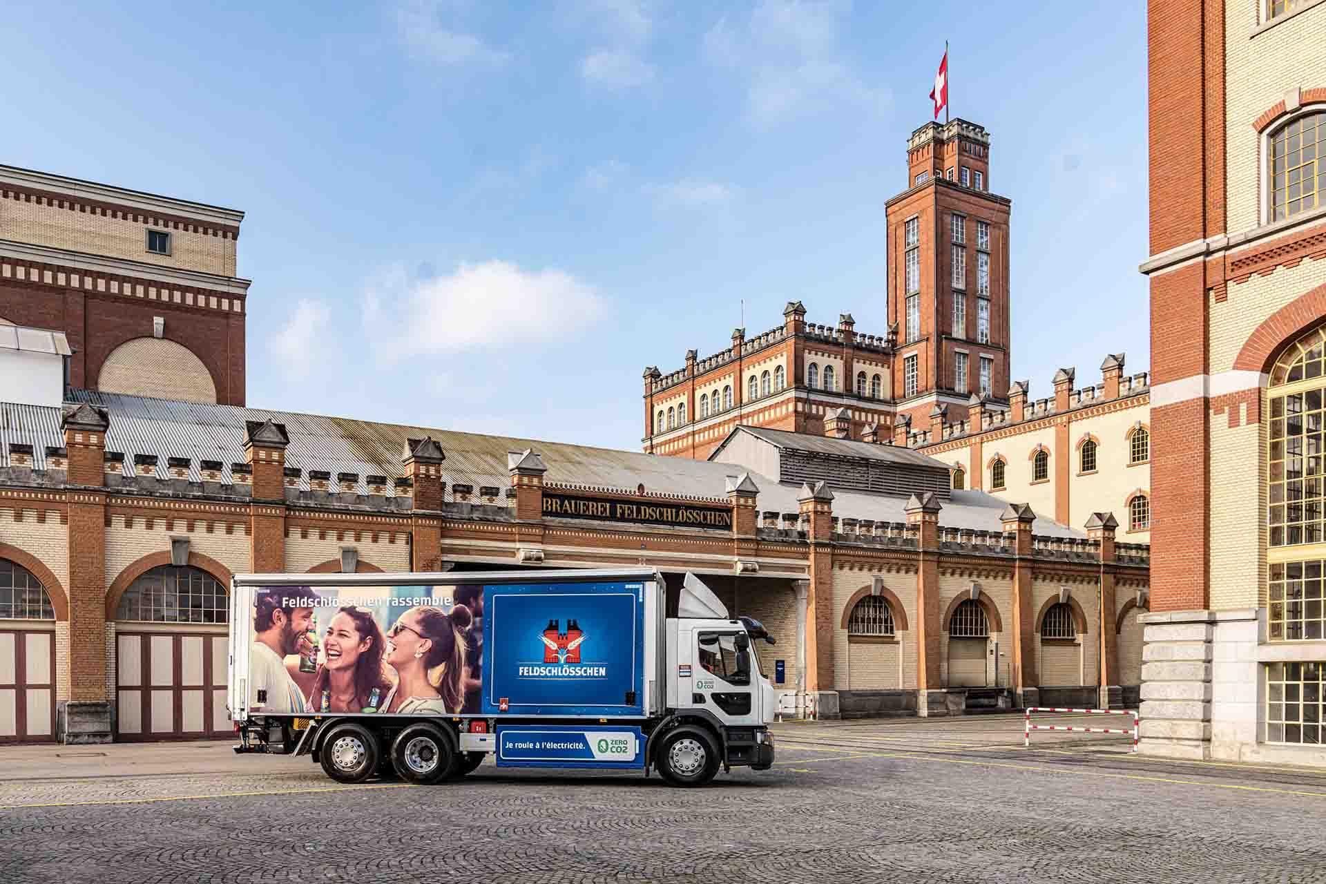 Feldschlösschen livrează berea cu Renault Trucks D Wide Z.E.