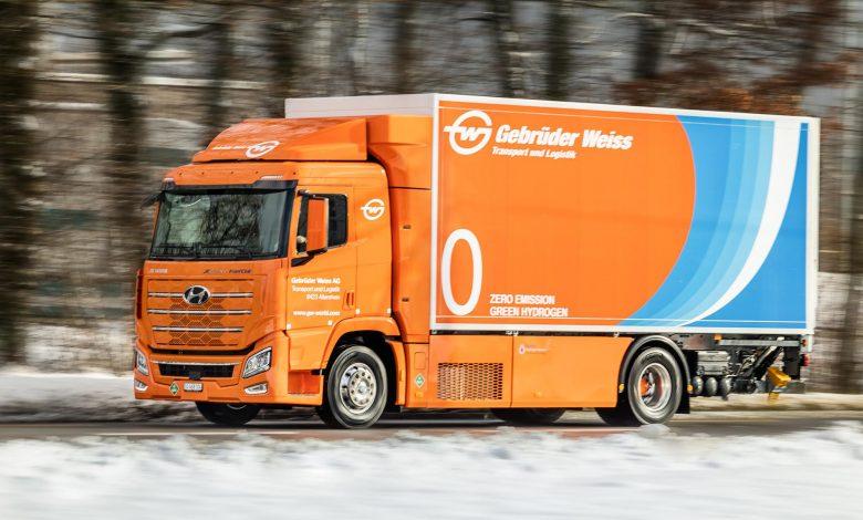 Hyundai XCIENT Fuel Cell a intrat în flota Gebrüder Weiss