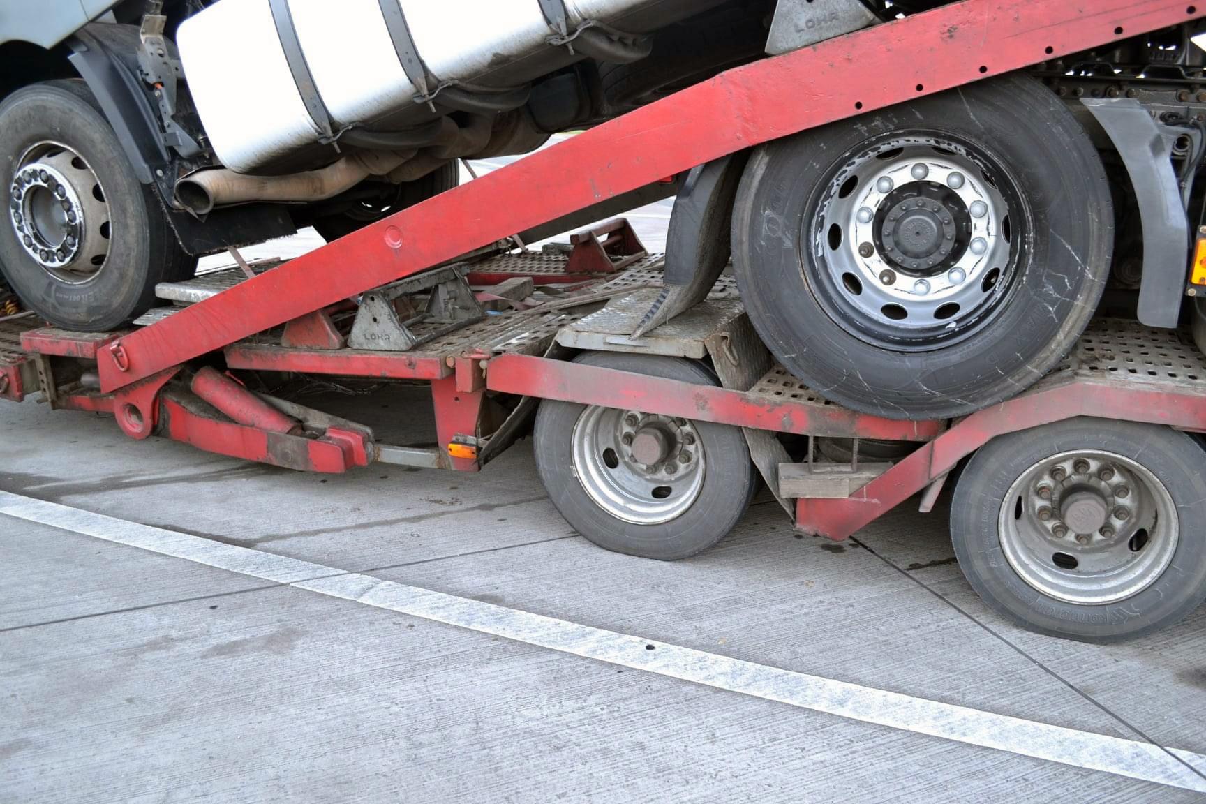 Transportor auto blocat în Germania din cauza numeroaselor probleme tehnice