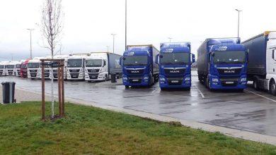 Parcare publică din Germania blocată de camioanele a două firme din România și Polonia