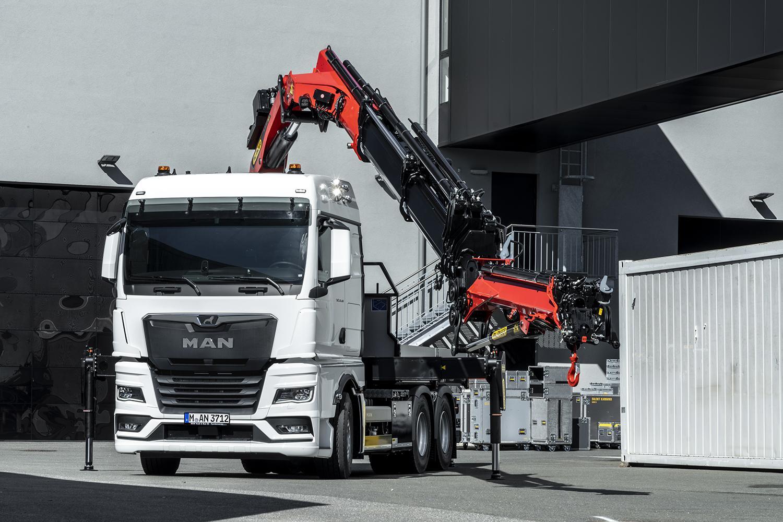 MAN a lansat o axă față cu sarcină de 10 tone, pentru camioane cu macara pe șasiu