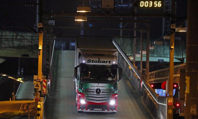 Primul camion care a trecut prin controlul Eurotunnel, după Brexit