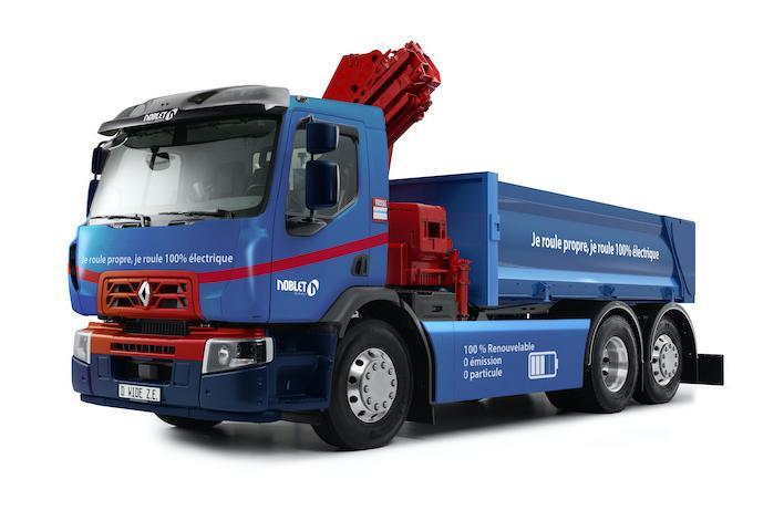 Renault Trucks va produce primul camion electric pentru sectorul construcțiilor