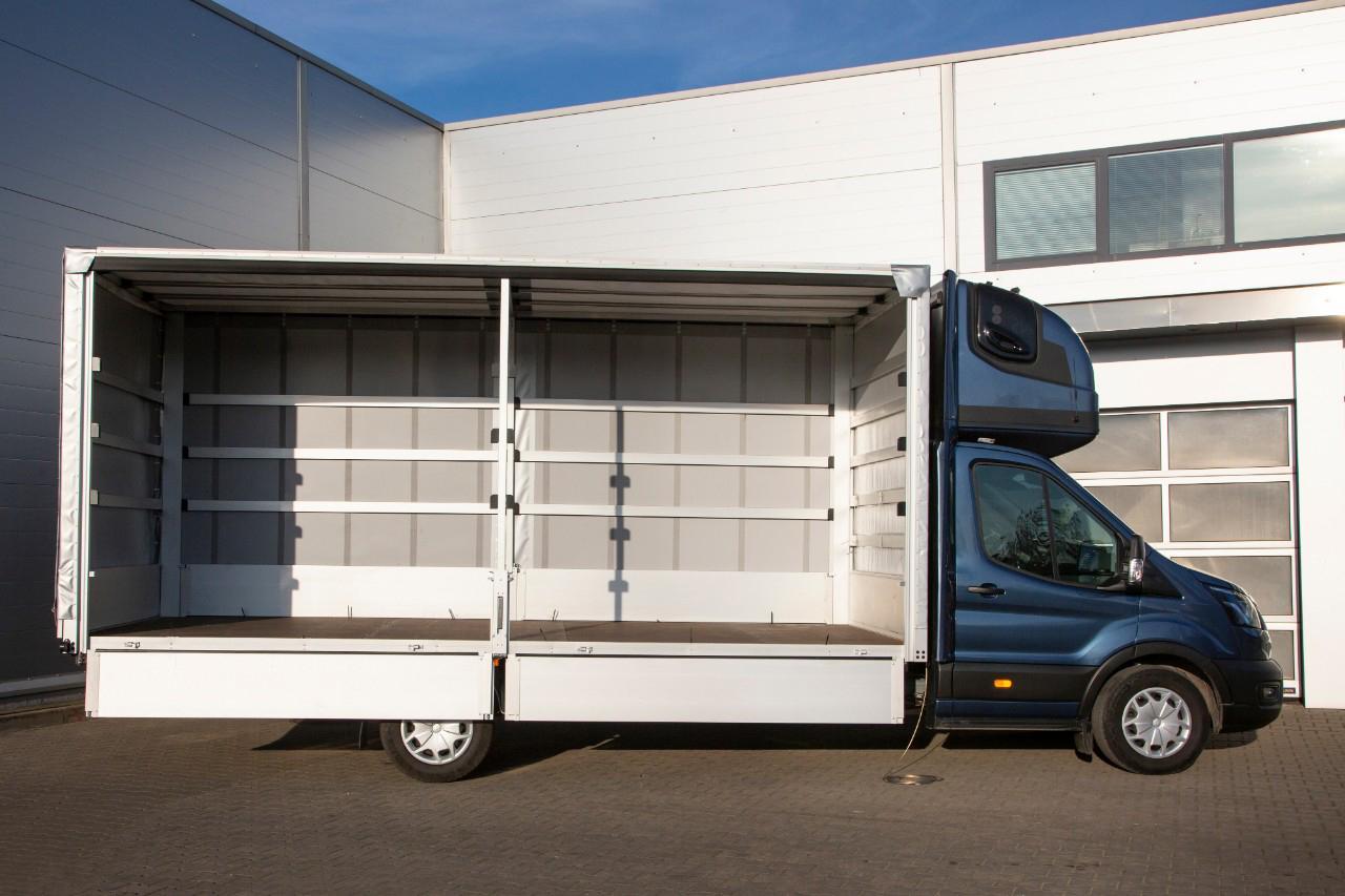 Versiunea cu ampatament mărit Ford Transit L5 poate transporta 10 europaleți