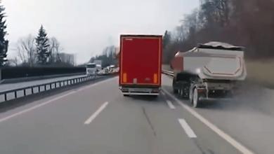 """Șofer de camion """"kamikaze"""" suprins de o cameră de bord în Elveția"""