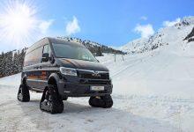 Hai afară la zăpadă: MAN TGE 4x4 cu șenile