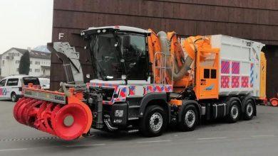 Camion unic pentru întreținerea drumurilor, contruit pe un șasiu MAN TGS