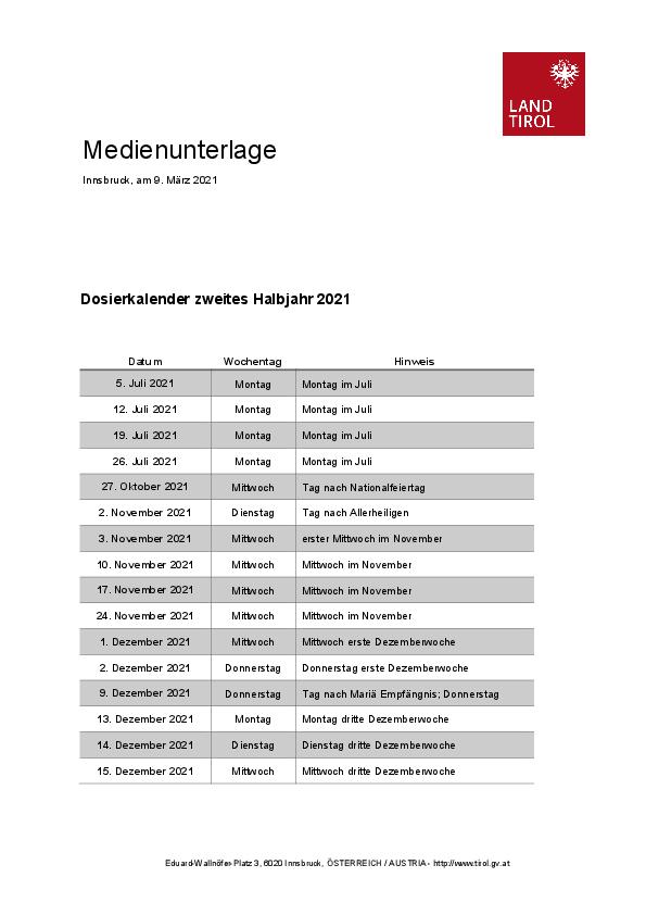 Tirol a programat noi controale în bloc, în a doua parte a lui 2021