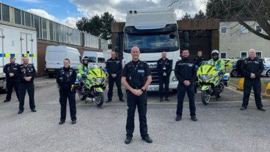 Poliția rutieră britanică folosește un nou camion DAF CF nemarcat