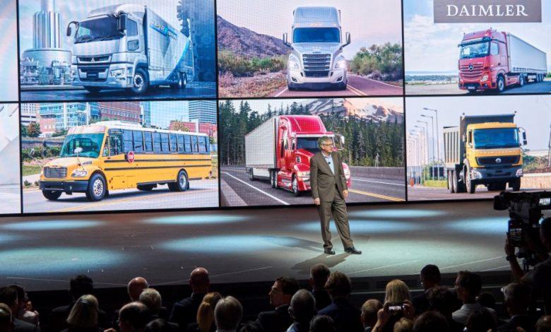 Vânzările de camioane Daimler au crescut cu 6% în primul trimestru