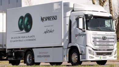 Nespresso folosește un camion electric cu hidrogen pentru livrări