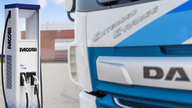 DAF introduce stații de încărcare pentru camioane electrice