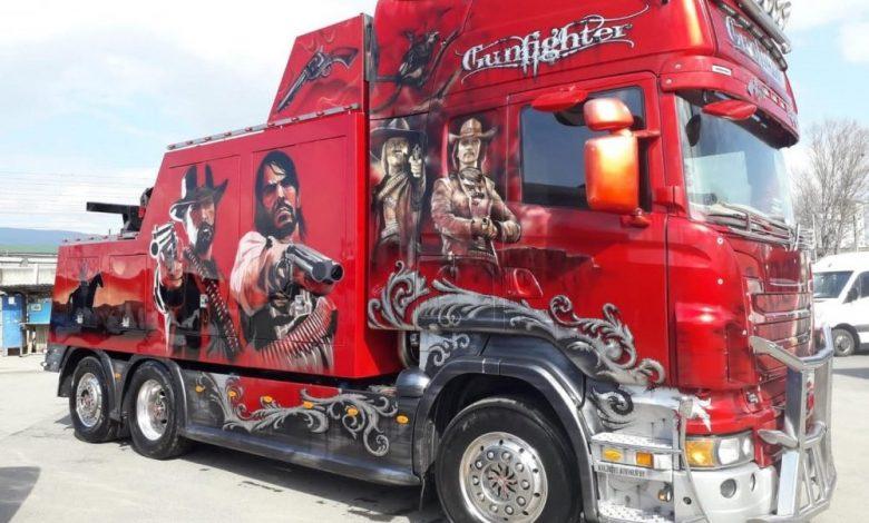 Scania Gunfighter: tractări cu stil în România (FOTO)