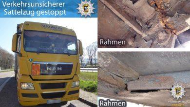 Poliția germană a scos din trafic un camion înmatriculat în România