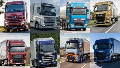 Înmatriculări camioane grele în România: creștere de 61% în martie 2021