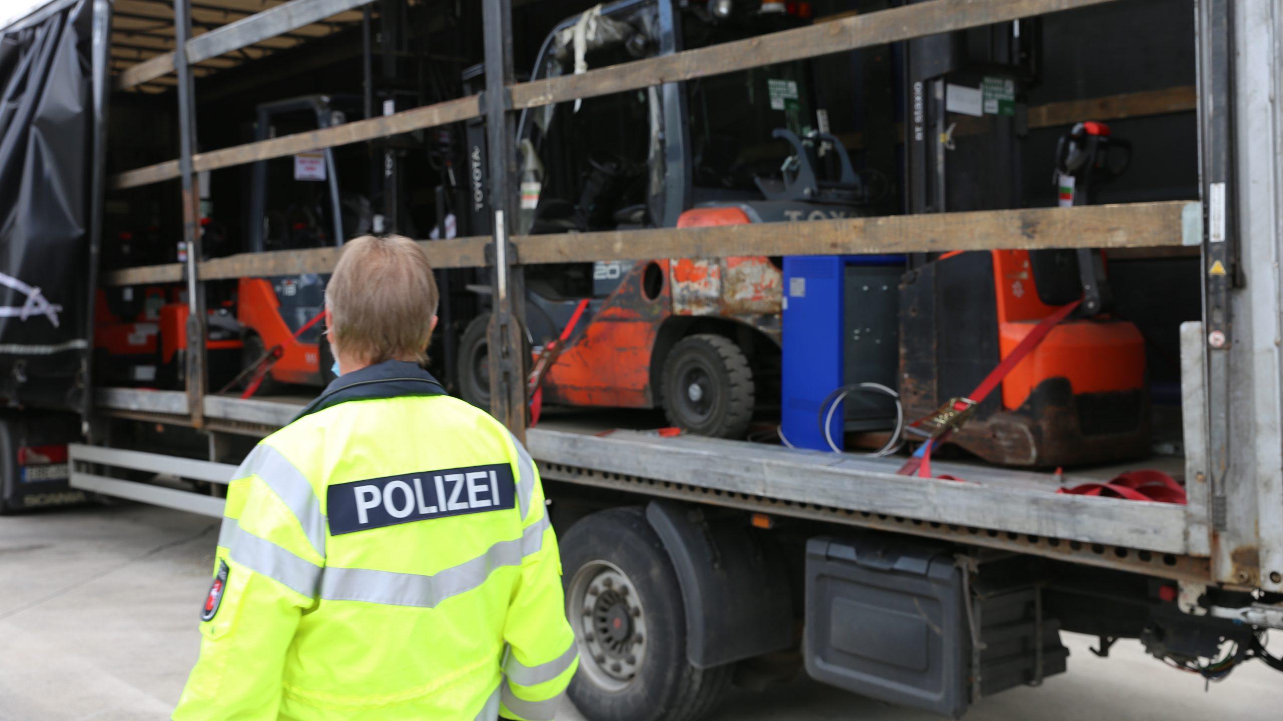 Acțiune de control a camioanelor efectuată de poliția din Osnabrück