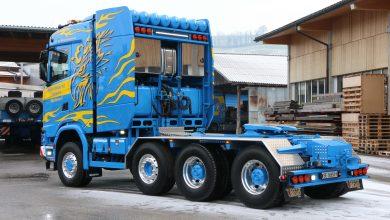 Cabină Scania S cu tunel motor? Este posibil, pe acest model de 250 de tone