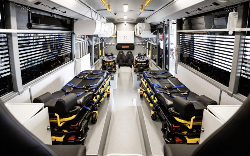 Setra LE convertit în ambulanță cu 4 paturi de terapie intensivă