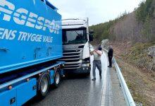 Șofer de camion periculos, reținut de civili în Norvegia (VIDEO)