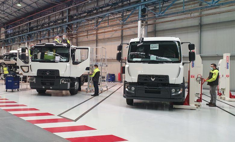 Centru de carosare la fabrica Renault Trucks din Blainville-sur-Orne