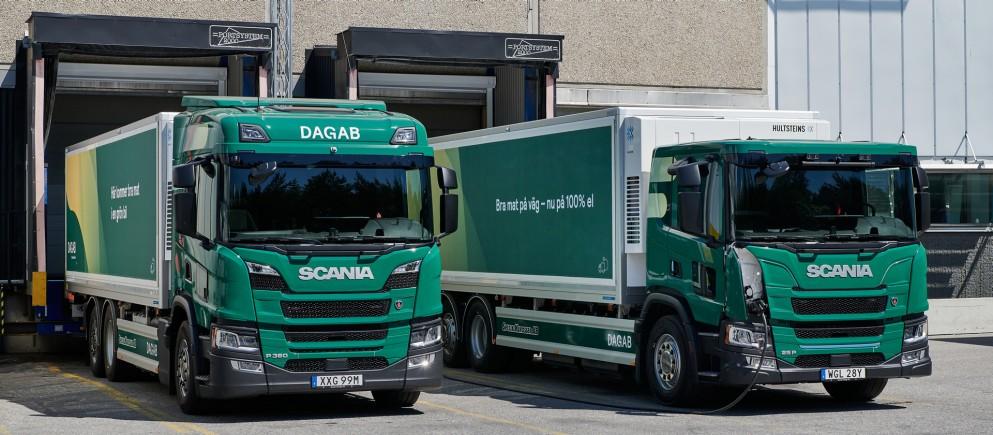 Livrări 100% electrice de alimente, cu camioane Scania, în Suedia
